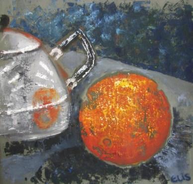 Apelsin 2010, õli puuplaadil, 600 x 600 mm