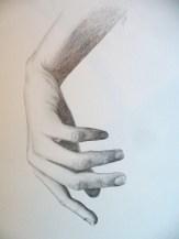 Käsi 2008, pliiats, 148 x 210 mm