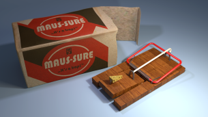 Pakendikujundus Bauhaus-stiilis 2015 (mudel: Blender; tekstuur: CorelDraw)