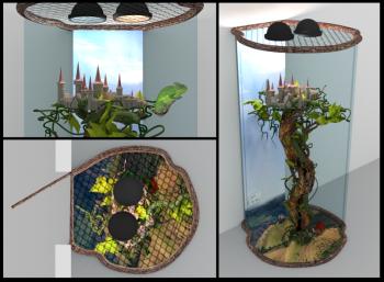 Kameeleoni terraarium 2015 (lossi mudel: Kristjan Kroonimägi)